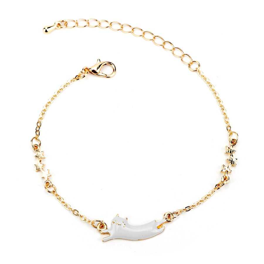 Fashion Japenese Anime Jewelry Sailor Moon Stars Cute Fate Running Cat Star Bracelets Charms Bracelet For Kids Women Gift