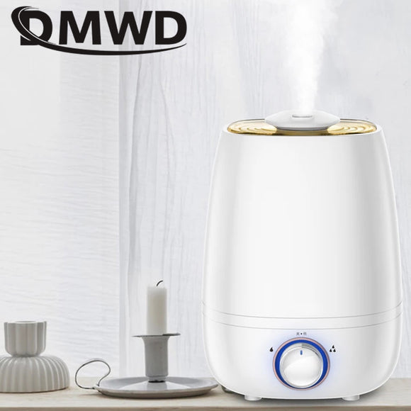 DMWD Ultrasonic Humidifier Aromatherapy Oil Diffuser Air Cool Mist Spray 4.5L large capacity Mini Essential Fogger Atomizer EU