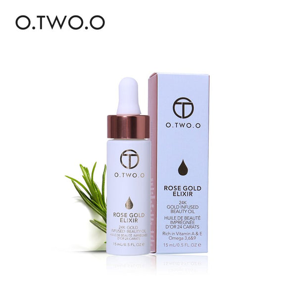 O.TWO.O 24k Gold Infused Beauty Oil Face Makeup Primer Foundation Easy To Absorb Moisturizing Anti-aging Face Essential Oil