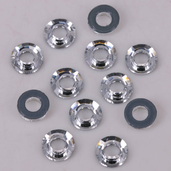 AAA Quality 6mm, 8mm Crystal Clear Cosmic Ring Flat Back Hotfix Rhinestones / Iron On Flat Back Crystals