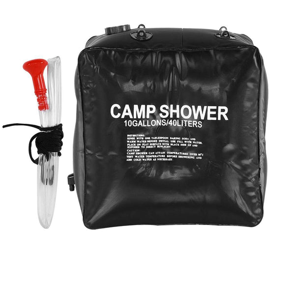 40L Solar Heating Camping Shower Bag Outdoor Water Bag With Water Rope Outdoor Washing Car Accessories