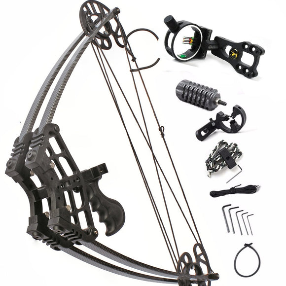 50lbs Compound Bow Let-off 75-80% Archery Hunting Triangle Bow for Hunting Shooting Suit For Left Hand and Right Hand Bow Arrow