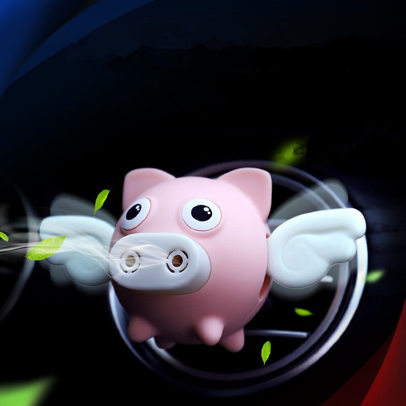 Car Air Freshener Cartoon Flying Pig Car Air Outlet Aromatherapy Essential Oil Diffuser Perfume Aroma Clip Decor Accessories