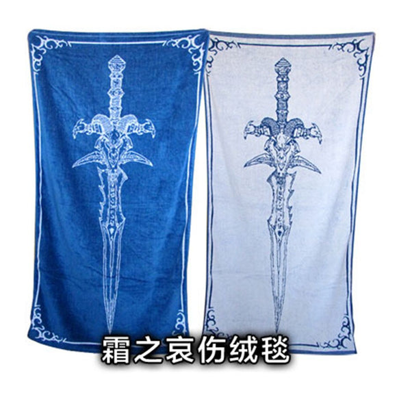 145x75cm Cartoon World Of War Frostmourne Blanket Child Mat Tapestry Soft Wall Bedspread Beach Towel Mat Blanket Table