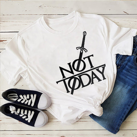"""*NEW TODDLER Game of Thrones TShirt ARYA /""""NOT TODAY/"""" GOT EXCELLENT BEST QUALITY"""