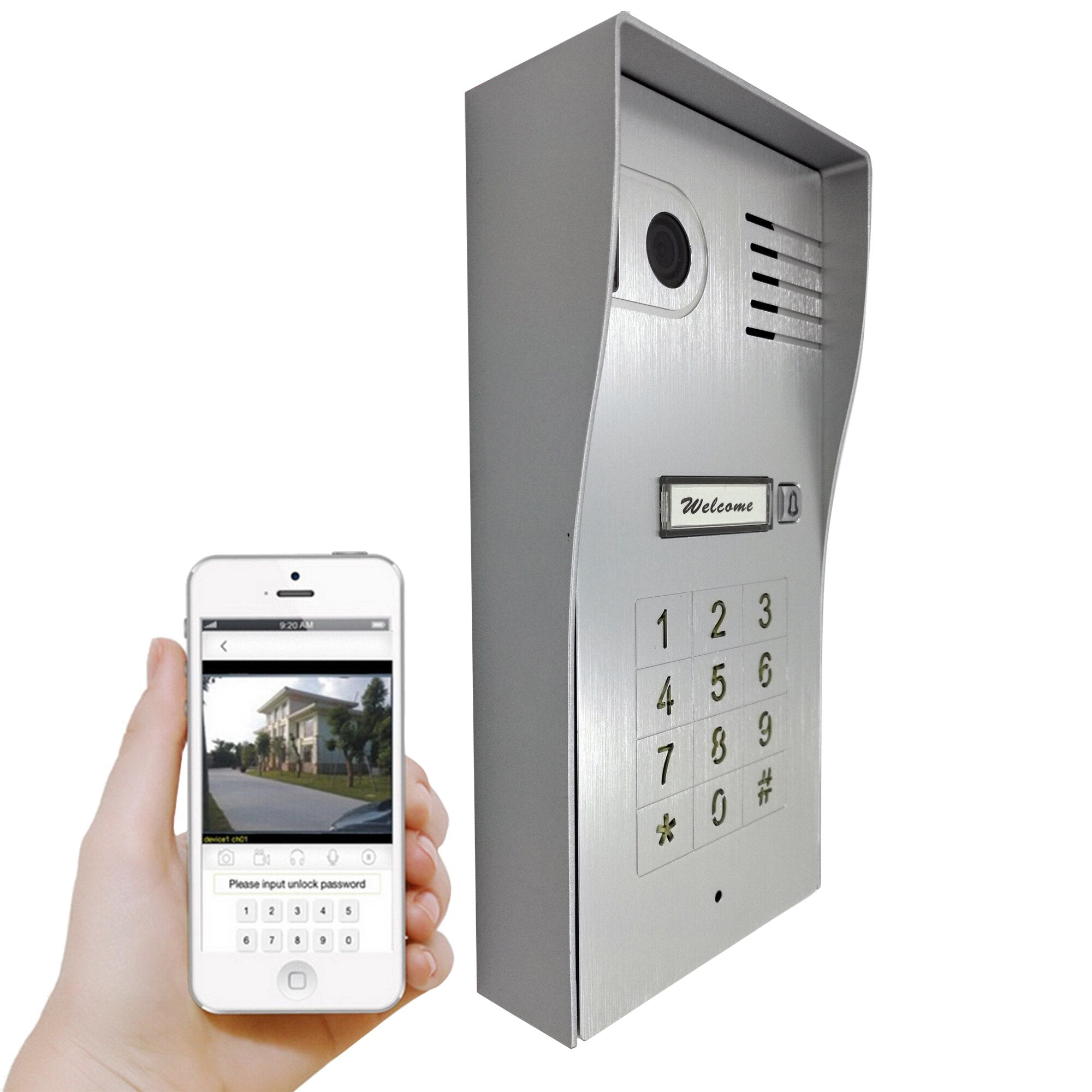 Global New  Wireless Wifi  IP Video door phone doorbell Camera Touchscreen Intercom Support IOS Android for Smart Phone Tablet