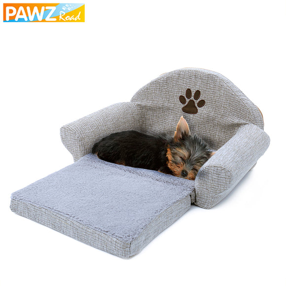 Removable Pet Dog Bed Soft Dog Sofa Kennel Paw Design Dog Cat House Washable Pet Cushion Mat For Pet bed Animals Pet Products