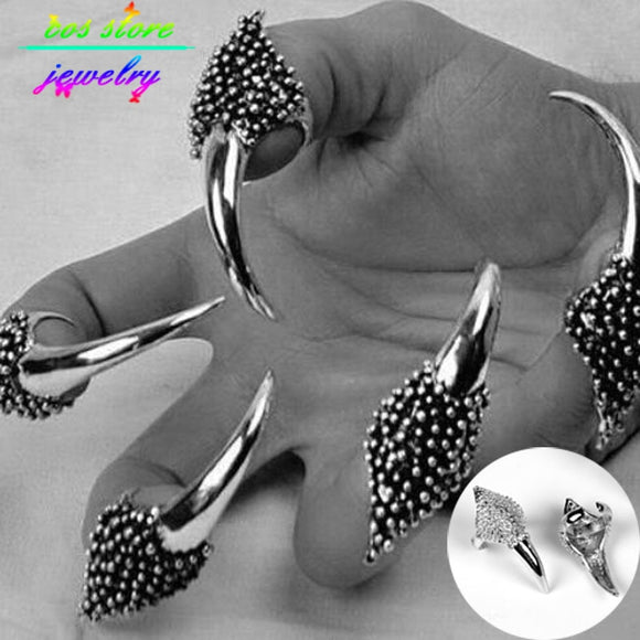 New PUNK Top Quality  Alloy Eagle Claws Adjustable Nail Rings Finger Ring Dress Jewelry 2020 Femme Bague