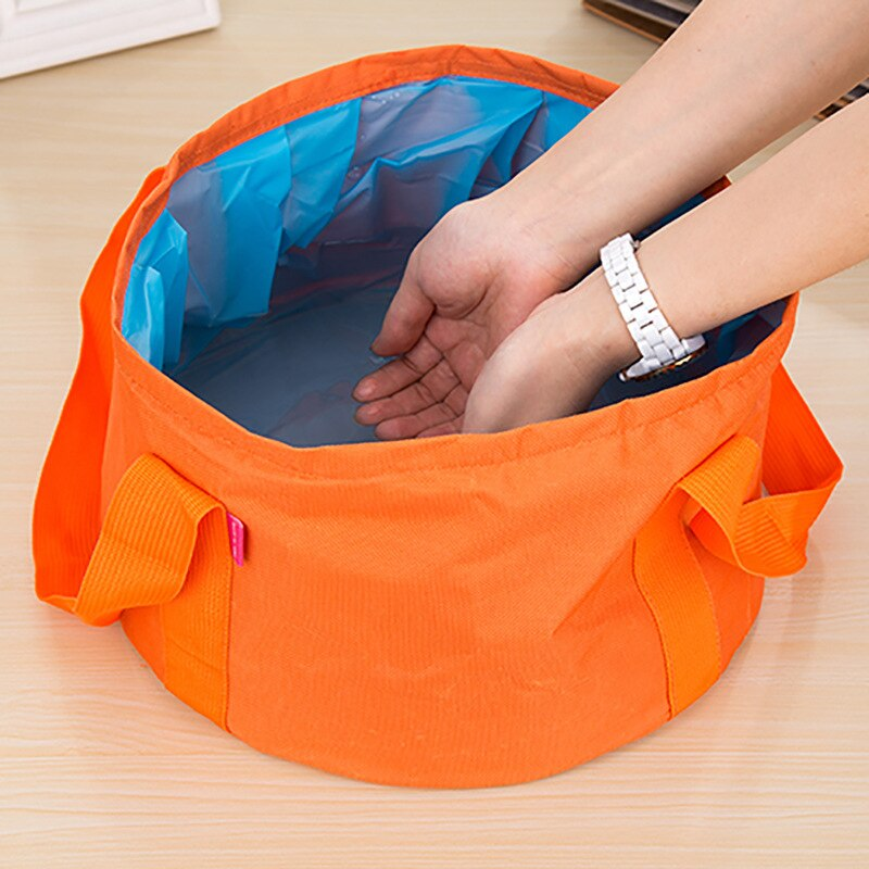 Camping Bucket 9L Outdoor Wash Basin Waterproof Folding Bucket Travel Portable Foldable Bucket outdoor Collapsible Water Bucket