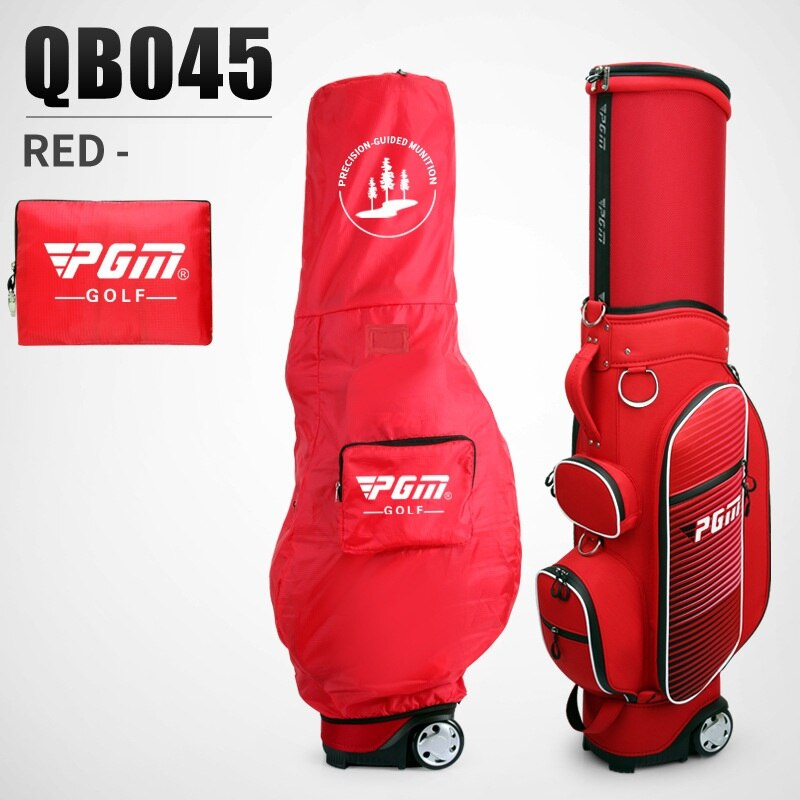 Pgm Golf Travel Bag Wheels Stand Caddy Airbag Flight Aviation Aircraft Large Capacity Golf Standard Bags Multi-Purpose D0480