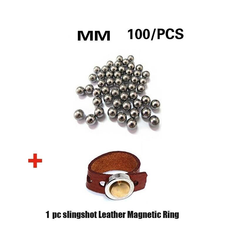 100pcs 8mm Slingshot Balls Stainless Steel Balls Hunting Catapult Slingshot Bearing Game Shooting Accessory with Magnetic ring