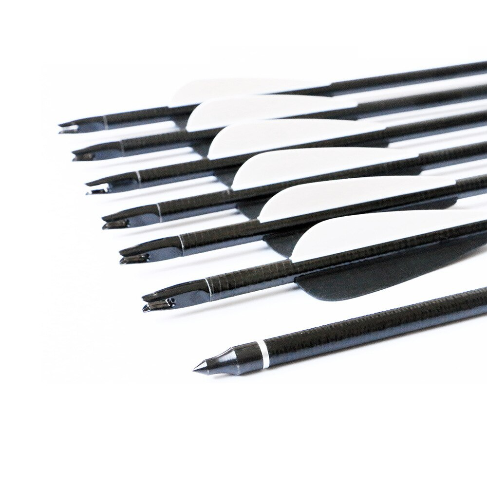 12pcs Spine550 30inch Fiberglass Archery Arrow With Replaceable Arrowhead For Shooting Hunting Compound  Recurve Bow