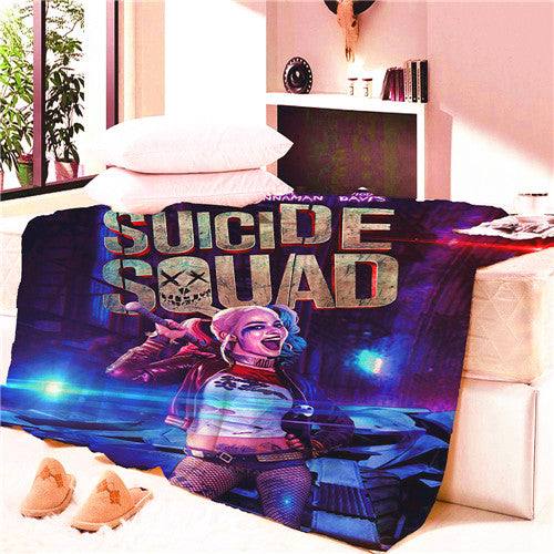Suicide Squad Harley Quinn Blanket Mat Tapestry Soft Wall Bedspread Beach Towel Mat Blanket Table Beach Towel Cosplay