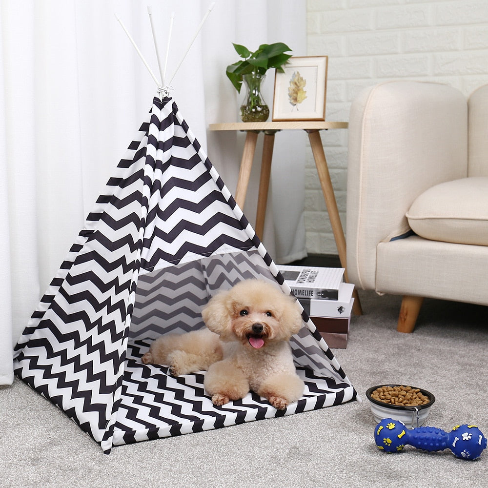 New Pet Tent House Outdoors Wind-proof Pet Bed For Cat Dog Portable Dog Tents Kennel for Small Dogs With Cushion Puppy Cat Home