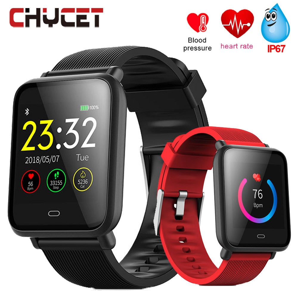 Smart Watch Bluetooth Blood Pressure Waterproof Smartwatch Men Women GPS Fitness Tracker Heart Rate Monitor For Android IOS