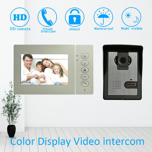 4 inch LCD Building intercom doorbell system wired door bell ring Smart Video door phone Night vision camera waterproof