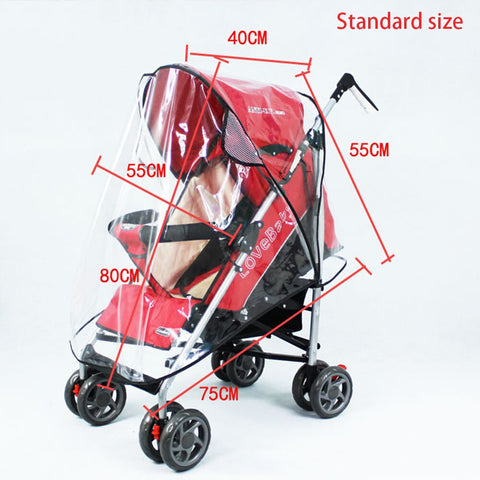 Pop Stroller Rain Cover Toddler Twins Pushchair Buggy Outdoor Wind Shield 1PC