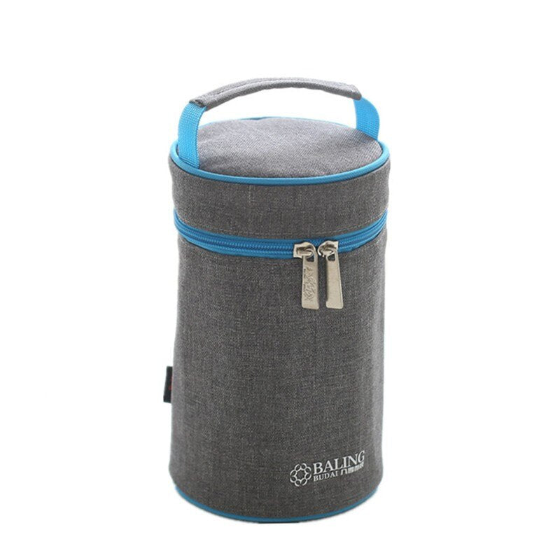 Insulated Denim Warmer Lunch Bag Picnic Cooler Insulation Fresh Ice Pack Food Fruit Container Storage Accessories Supply