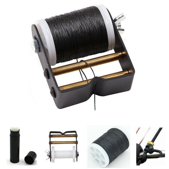 4 Pcs Archery Set Archery Bow String + Bowstrings Serving Tool + Bow Strings Wax+Archery Strings Buckle Clip Nock Sets Protect