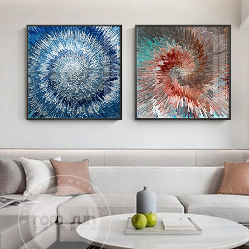 Modern Rotate Radial Model Canvas Art Fashion Poster Print Wall Art Picture For Living Room Dining Room Abstract Spray Painting