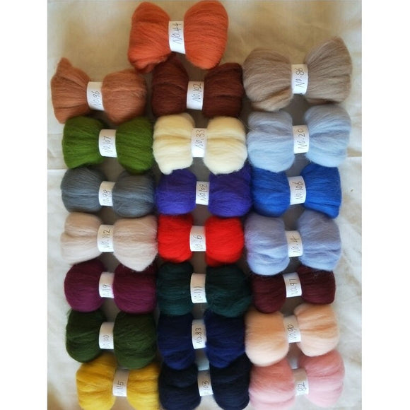 Upgraded 16 Colors 160g Wool Roving for Felting Wool Felting Supplies for DIY Craft Christmas Halloween Gift Complete Needle Felt Tools with Large Felt Molds for Beginners Needle Felting Kit