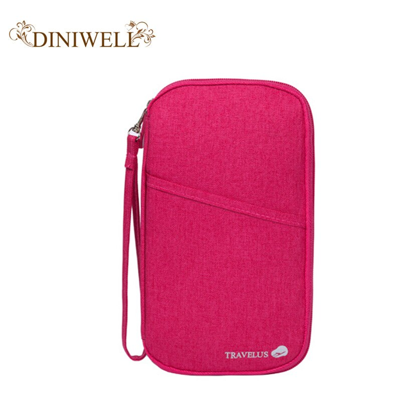 DINIWELL Cardholder Passport Bag Multicolor Long Wallet Banknote Credit Card Bag High-capacity Travel Wallet