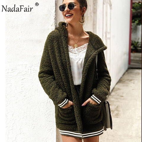 DongDong Womens Sleeveless Faux Fur Winter Fleece Hoodie Vest Fluffy Casual Coat with Pockets