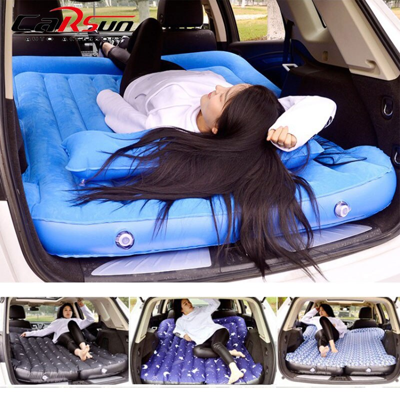 Car Bed Car Mattress Air Bed Cushion Camping Inflatable Car Mattress Vehicle Air Travel Bed Couch Colchon Inflable Para Auto