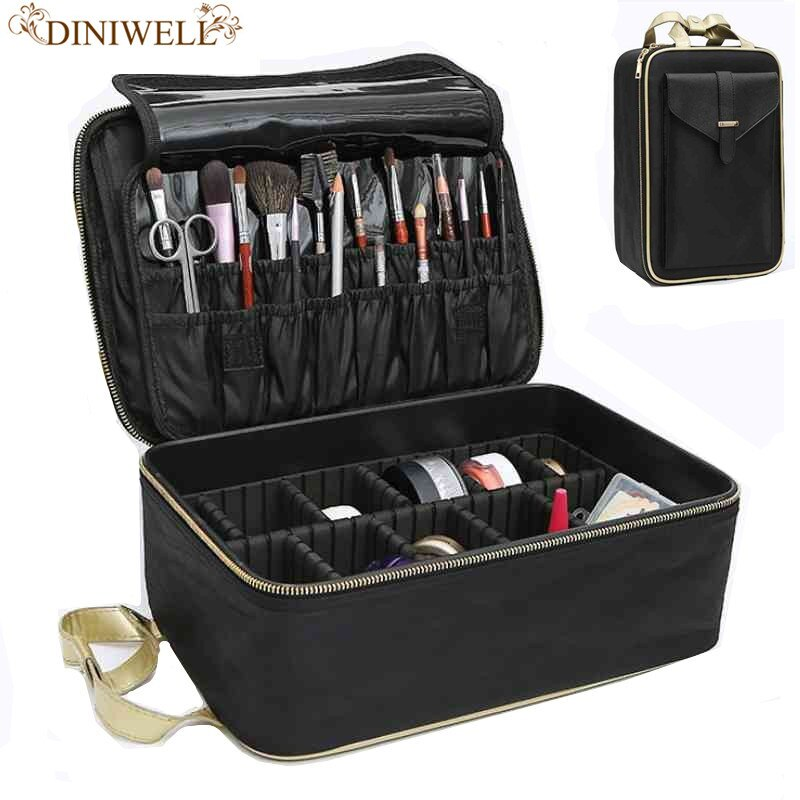 Professional Women Cosmetic Boxes Women Travel Portable Makeup Beauty Tattoos Nail Kits  Necessities Para Mulheres Maquiagem