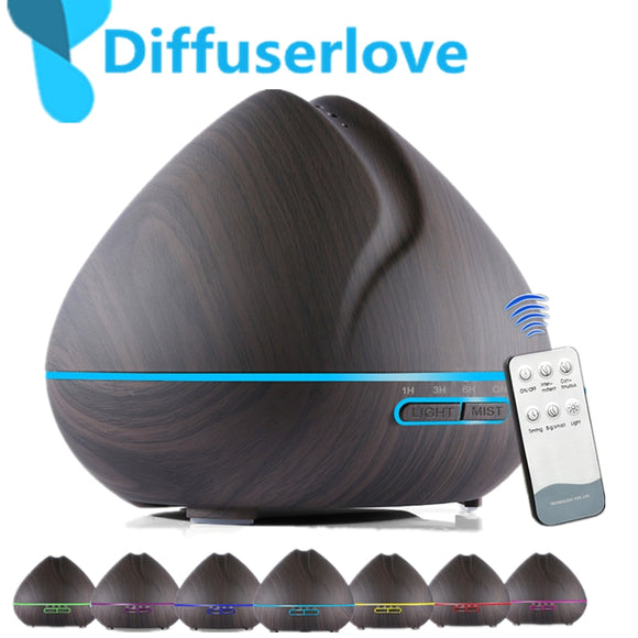 Diffuserlove 500MLAir Humidifier Remote Control  Essential Oil Diffuser Humidificador Mist Maker LED Aroma Diffusor Aromatherapy