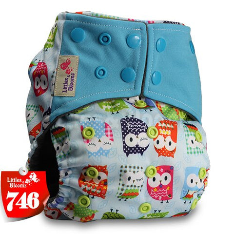 Reusable Pocket Real Cloth Nappy Washable Diaper Bamboo Charcoal Without Insert Littles /& Bloomz Pattern 14