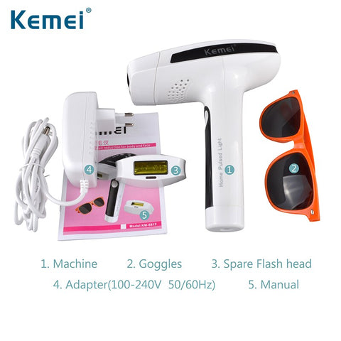 Kemei Lady Hair Removal Machine Photon Permanent Painless Laser