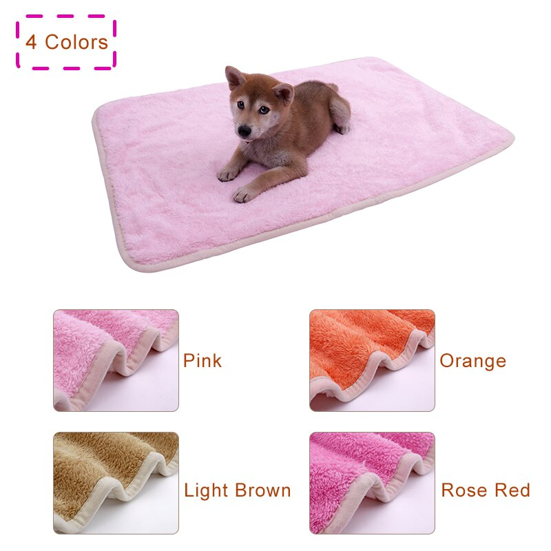 4pcs/lot Pet Towel Super Soft Warm Double-sided Thicker Velveteen Puppy Dog Cat Bath Towel Cover For Bed hond hondenku Car Seat