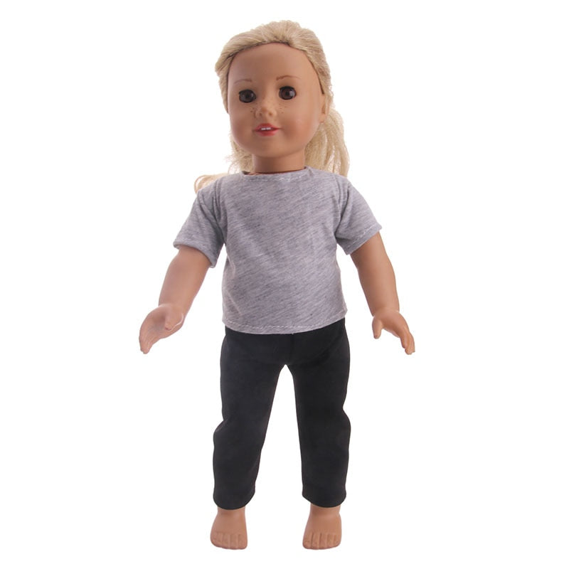 Cute Purple Granular Shoes For 18 Inch American Girl Doll Doll Accessories DX