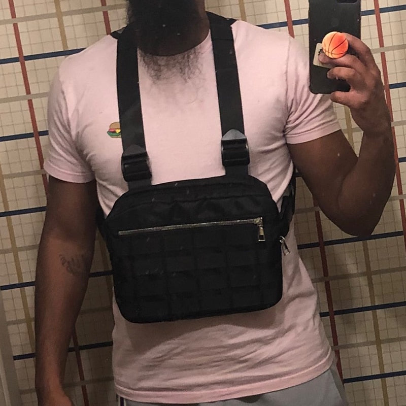 Chest Rig Bags Adjustable Tactical Pocket Hip Hop Streetwear Functional Tactical Breast Bag Cross Shoulder Bag Kanye West 2019