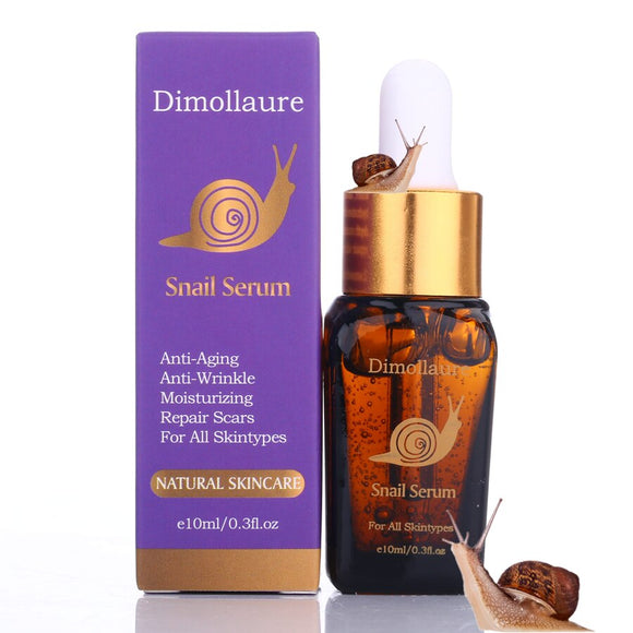 Dimollaure Anti-Aging Snail Pure Extract Serum Hyaluronic Acid Moisturizers Treatment Face Care Sodium hyaluronate Essence