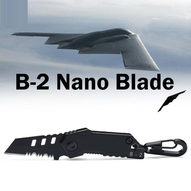 2018 B-2 Bomber Nano Blade Utility Multi Pocket Knife Mini Key Chain Tactical EDC Survival Camping Outdoor Knife Tools Repair