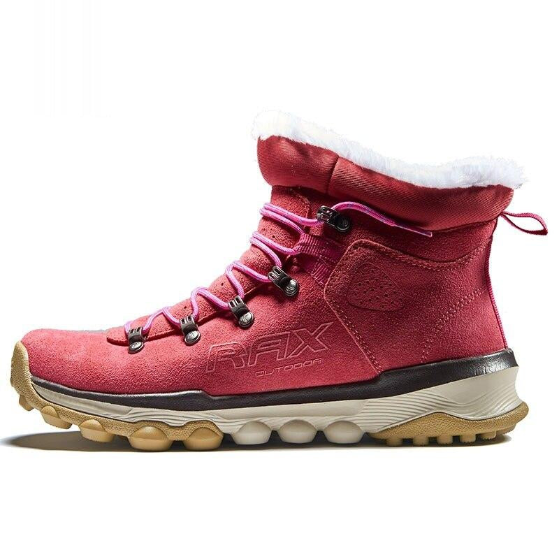 Women Genuine Leather Hiking Shoes Boots Men Keep Warm Climbing High Top Shoes Female Breathable Mountain Shoes AA52327