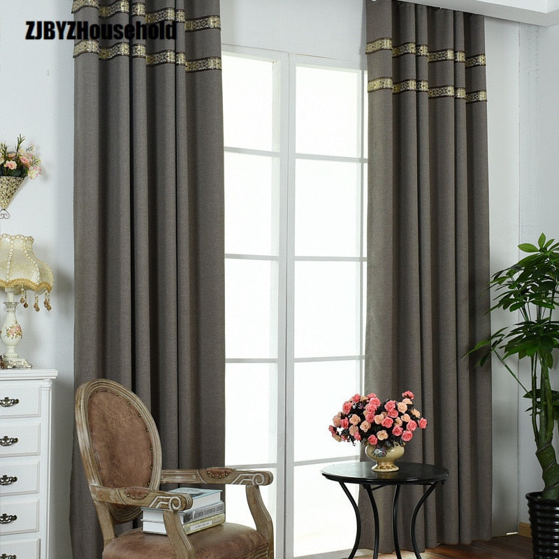 Full Shade Curtain Cloth, Small Linen Full Shade Curtain,Curtains for Living Dining Room Bedroom
