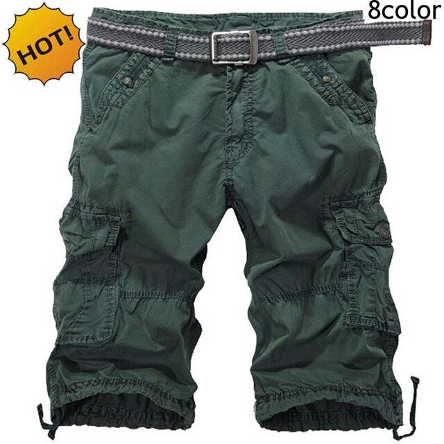 NEW 2020 Outdoor Summer Sport tooling Straight Men's Hiking Cotton cargo Training Mountain climbing Multi pocket Shorts