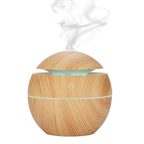 aroma diffuser ultrasonic wood air humidifier USB cool mini mist maker LED lights for home office  Mango 10m Essential oil