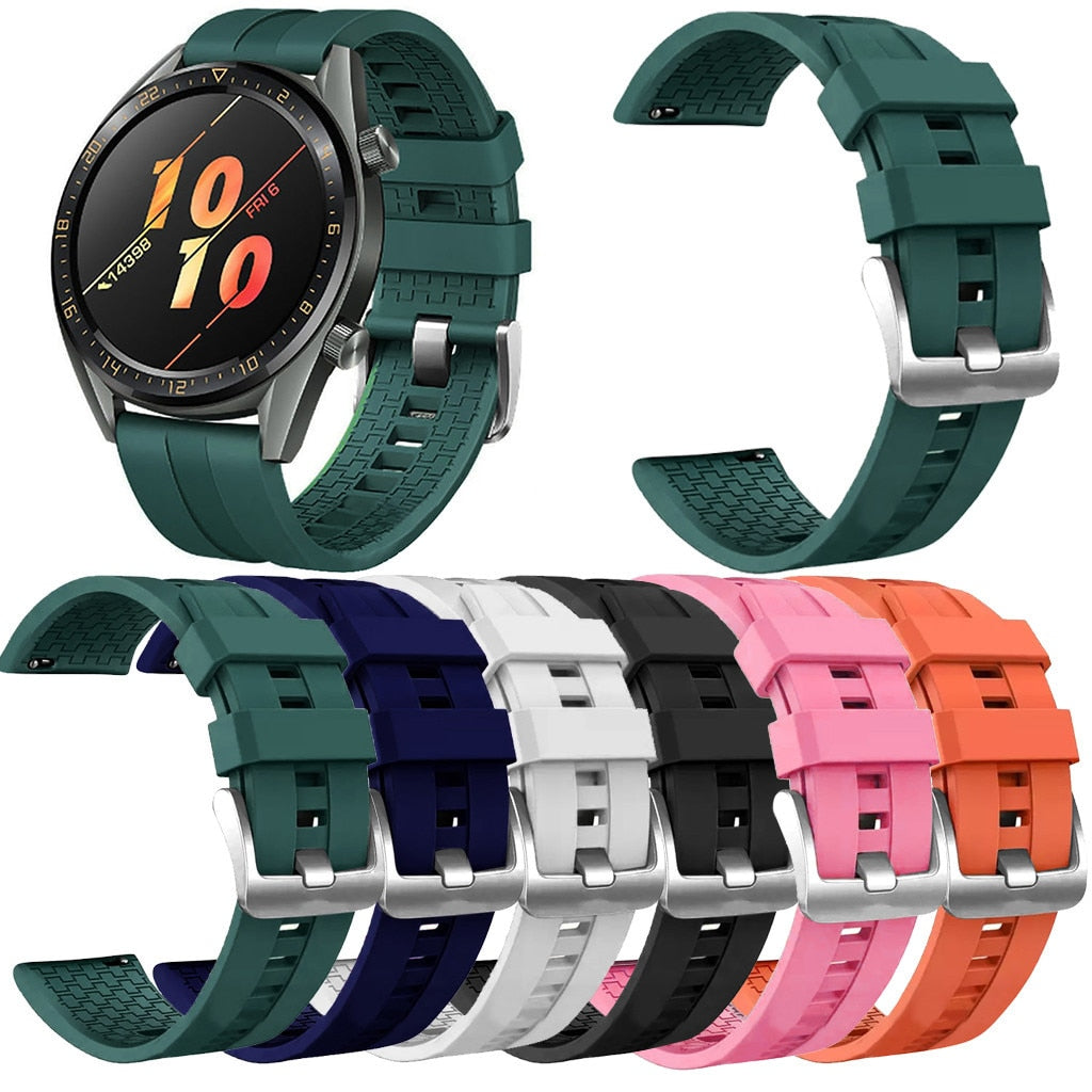 Replacement Silicone Band WristStrap For Huawei Watch GT Active 46mm Honor Magic Smart watch Bracelets Wearable accessories #710