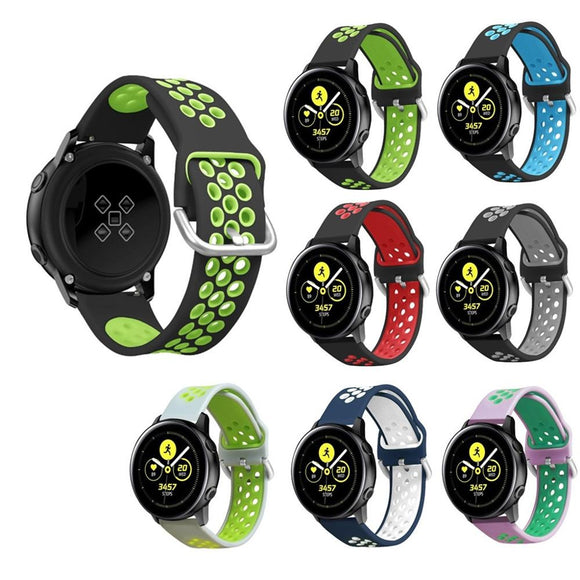 For Samsung Galaxy Watch 42mm/Active 40mm Sport Silicone Watch Band Wrist Strap Smart watch Bracelets Wearable accessories #718