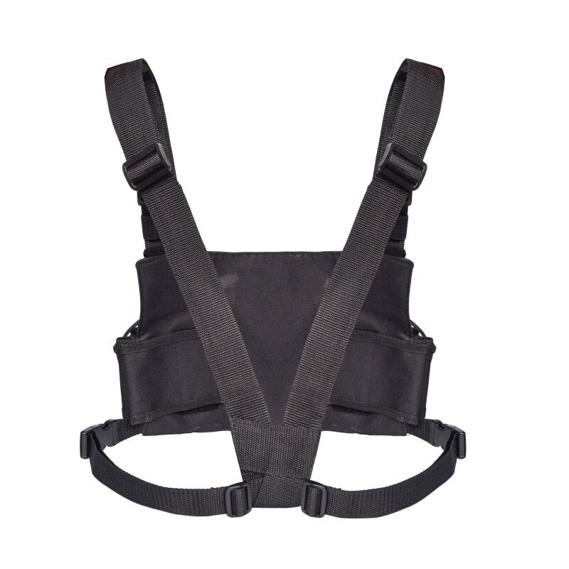 Chest Front Pack Pouch Holster Vest Rig Carry bag for Baofeng UV-5R UV-82 UV-9R BF-888S TYT Motorola