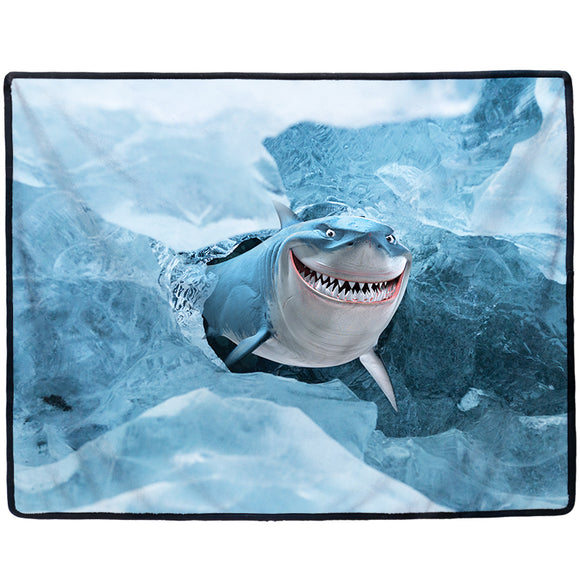 Big-size Pet Mat Rest Blanket 3d Printed Pattern of shark Multi-functional Warm Soft Cat Dog Puppy Pet Nap Blanket S/M/L