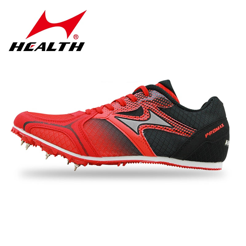 Health Men's Women's Sprints Nail Spikes Professional Track and Field Sports Shoes Students Training High Jump Cleats Sneakers