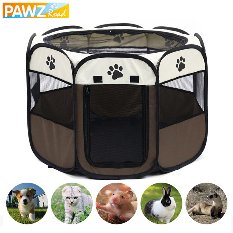 Pet Tent Dog House Cage Portable Foldable Dog Cat Tent Playpen Easy To Operate Outdoor Travel Puppy Kitten Kennel Fence