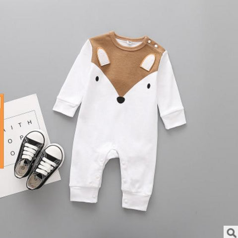 Unisex Baby Crew Neck Long Sleeve Solid Color Romper Hockey Game Jumpsuit