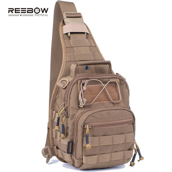 Reebow Military Tactical Single Sling Bag Pack EDC Molle Travel Crossbody Chest Packs for Outdoor Sports