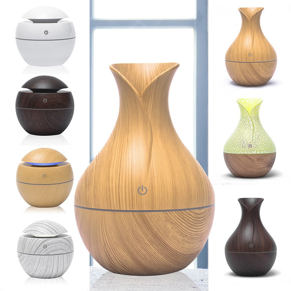 130Ml Aroma Essential Oil Diffuser Mini Air Humidifier USB Ultrasonic Mist Aromatherapy Portable Air Purifier LED Night Light